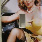 Single Switch Plate Cover, Pin Up Girl in Yellow Dress