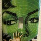 Single Switch Plate Cover, Green Hypnosis Woman
