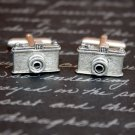 Hand Made Cuff Links, Silver Cameras