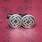 Hand Made Cuff Links, Silver Eternity Knots