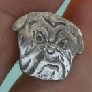 Hand Made Cuff Links, Silver Bull Dog Faces