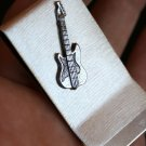 Money and Card Clip with Silver Guitar