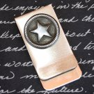 Money and Card Clip with Silver Star Embellishment