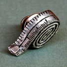 Silver Tape Measure Tie Tack, Hand Made