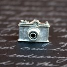 Silver Camera Tie Tack, Hand Made