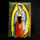 Single Switch Plate Cover, Virgin Mary with Tan Background