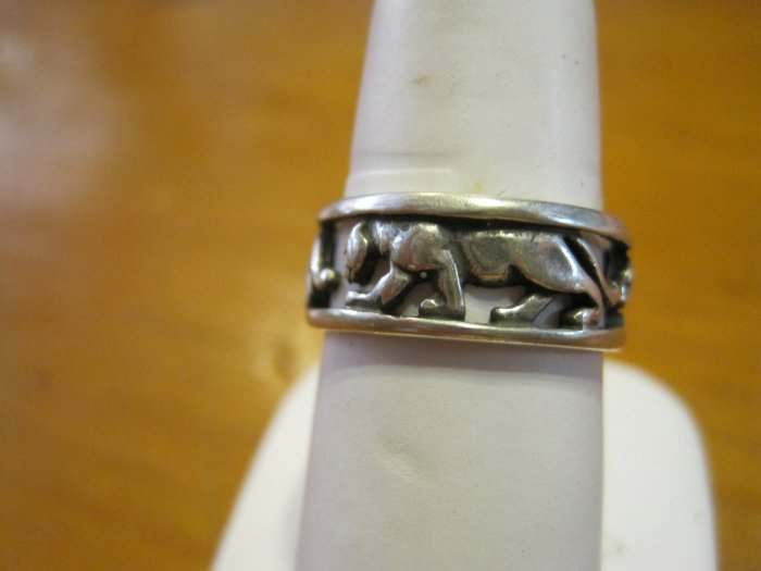 Silver Panther Cutout Ring