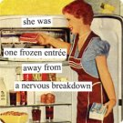 """She was One Frozen Entree Away from a Nervous Breakdown"" Magnet"