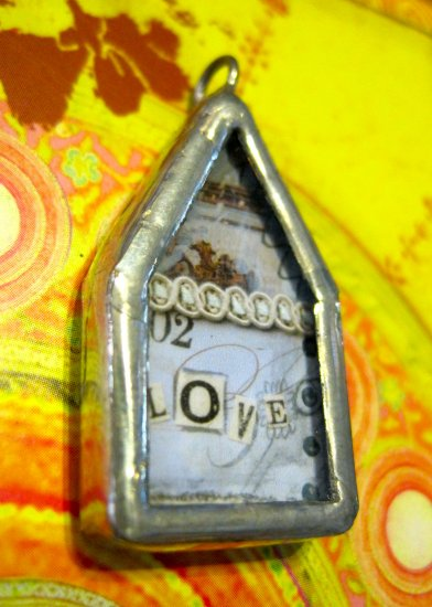 "The House that ""Love"" Built Charm, Necklace Pendant"
