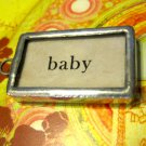 """Baby"" Flashcard Charm, Necklace Pendant"