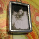 Vintage Black and White Picture, Mother and Child, Necklace Pendant