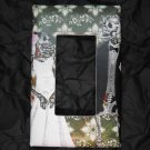 Single Switch Plate Cover, Flat, Day of the Dead Wedding Couple with Print Background