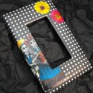 Single Switch Plate Cover, Flat, Day of the Dead Couple, Black and White Background
