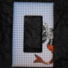 Single Switch Plate Cover, Flat, Loteria Mermaid, Day of the Dead Style