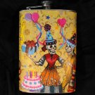 Stainless Steel Flask - 8oz., Day of the Dead Birthday Party