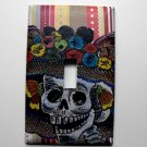 Single Switch Plate Cover, Catrina with Colorful Background