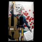 Single Switch Plate Cover, Day of the Dead Skeleton with Guitar