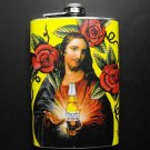 Stainless Steel Flask - 8oz., Jesus Holding Corona Bottle