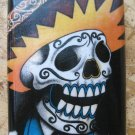 Stainless Steel Flask - 8oz., Colorful Day of the Dead Skeleton Man