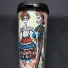 Travel Mug, Day of the Dead Couple Dancing