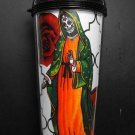 Travel Mug, Day of the Dead Style Virgin Mary