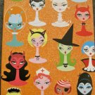 Pin Up Halloween Girls Card