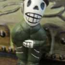 Quinoa Clay Day of the Dead Figure, Man in Green Suit Brown Hat