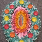 Hand Cut Paper Ornament Virgin Mary and Angel Picture