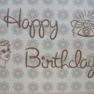 """Happy Birthday"" Retro Print Birthday Card"