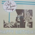 """Happy Birthday"" Retro Lounge Print Birthday Card"