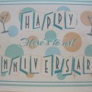 """Happy Anniversary, Here's to Us"", Retro Print Anniversary Card"