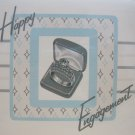 """Happy Engagement"" Retro Print Engagement Card"