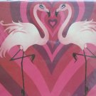 Flamingos with Hearts Print Blank Card