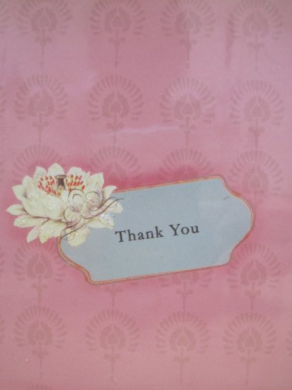 Thank You Blank Card Lotus Design