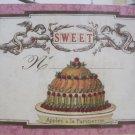 """Sweet"" Vintage Print Cake and Cherubs Hanging Gift Card"