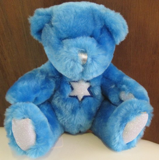 Little Blue Hanukkah Stuffed Bear