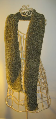 Hand Made Green Knit Scarf