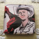 Vintage Cowgirl Square Magnet