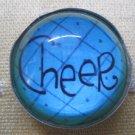 """Cheer"" Print Round Magnet"