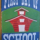 """First Day of School"" Square Magnet"