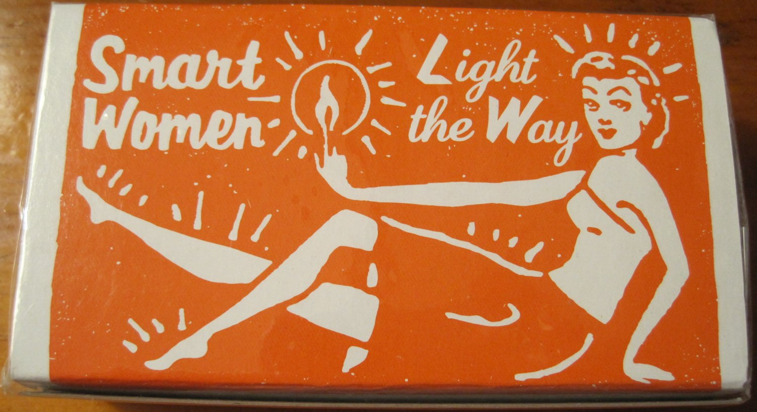 """Smart Women Light the Way"" Smart Women Box of Matches, Orange"