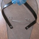 Silver Mesh Sandal Earring Holder