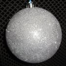 Silver Sparkle Ball Ornament