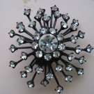 Black Star Burst with Rhinestones, Jewelry Finding