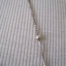 Long Silver Chain Necklace with Ball Accents