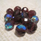 Purple Iridescent Beads, 13 Pcs.