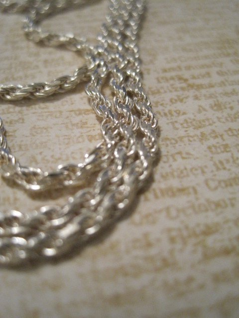 """Real Silver Snake Chain Necklace, 24"""""""