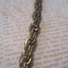 Retro Gold Snake Chain, Antiqued Look, Necklace