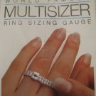 White Plastic Ring Sizer, Measuring Tape
