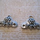 Set of Two Flower Designed Center Pieces, Jewelry Finding